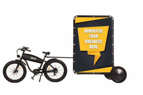 Advertising Bikes For Sale - Billboard Attached to eBike