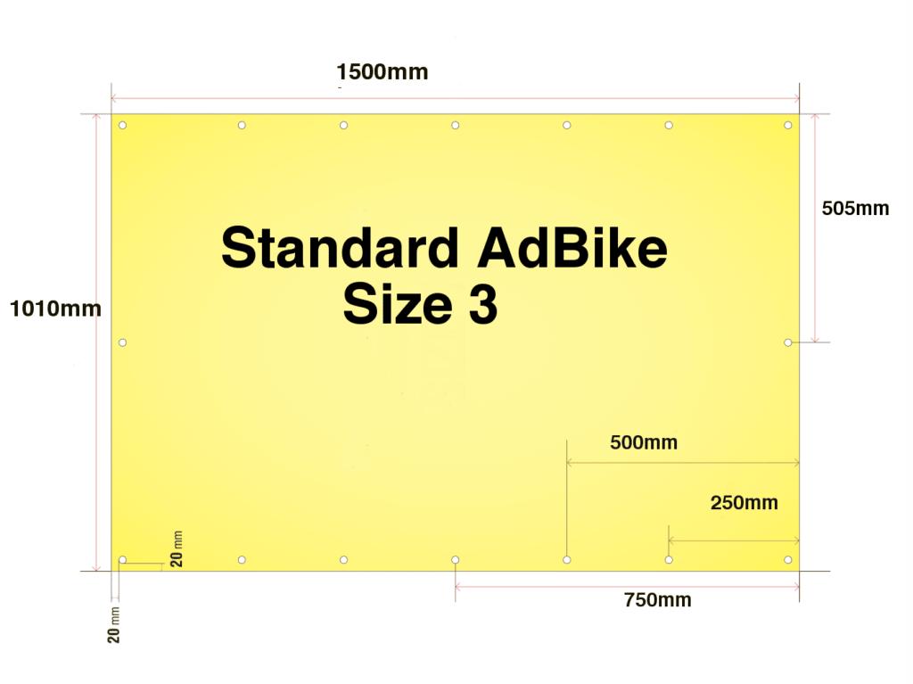 Banner Specs for our Standard Advertising Bike